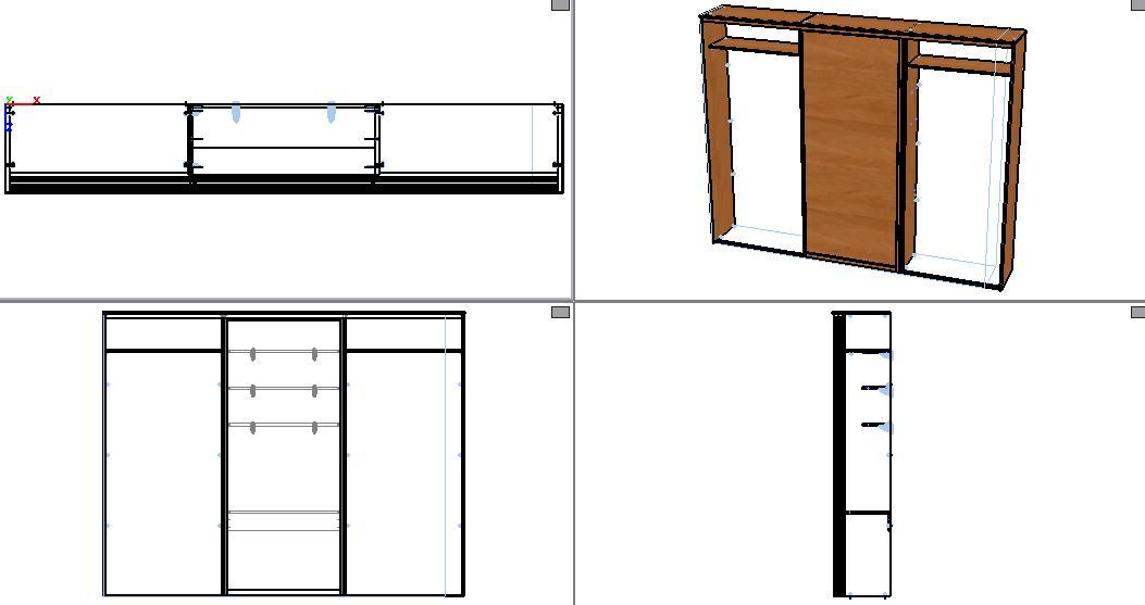 Шкаф кровать из 2-ух